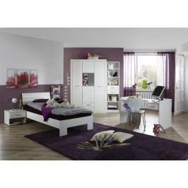 Jugendzimmer Mit Bett 90 X 200 Cm Alpinweiss/ Strasskristall Wimex Nightlight Weiß Holz Modern