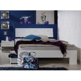 Bett 90 X 200 Cm Mit Nako Alpinweiss/ Strasskristall Wimex Nightlight Weiß Holz Modern