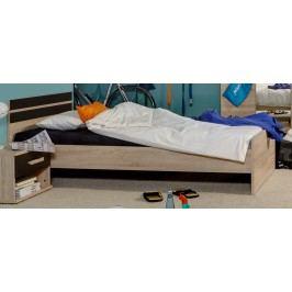 Bett 90 X 200 Cm Mit Nako Eiche Sägerau/ Lavafarbig Wimex Game Modern