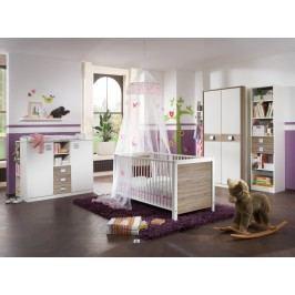 Babyzimmer Mit Bett 70 X 140 Cm Alpinweiss/ Eiche Sägerau Wimex Jette Holz Modern
