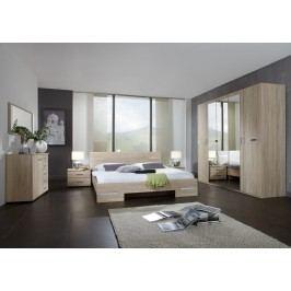 Schlafzimmer Mit Bett 180 X 200 Cm Eiche Sägerau Wimex Anna Holz Modern