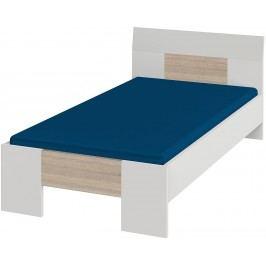 Bett 90 X 200 Cm Weiss/ Dakota Eiche Röhr Vegas Plus Holz Modern