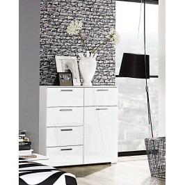Kommode Weiss Hochglanz Rauch Select Denia Weiß Holz Modern