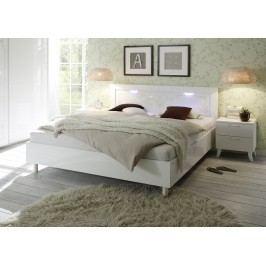 Bett 180 X 200 Cm Weiss Echt Hochglanz/ Siebdruck Classico Musa / Dea Weiß Holz Modern
