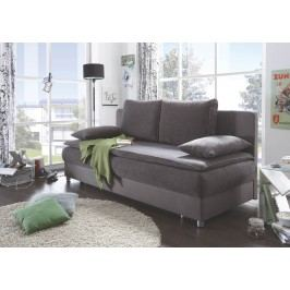 Schlafsofa Grau/ Dark Grey Black Red White Svenja Polyester Modern