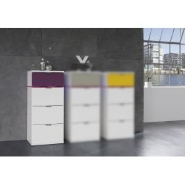 Kommode/ Schubkastenkommode Weiss/ Flieder Express Möbel Colour Sleep Weiß Holz Modern