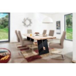 Esstisch 240 X 95 Eiche Bianco Geölt/ Schwarz Standard Furniture Aladin Holz Modern