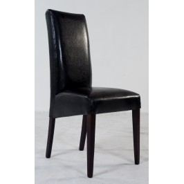 2er-Set Esszimmerstuhl Buche Kolonialfarbig / Kunstleder Dunkelbraun Standard Furniture Rudi Neutral