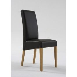 2er-Set Esszimmerstuhl Buche / Kunstleder Dunkelbraun Standard Furniture Rudi Neutral