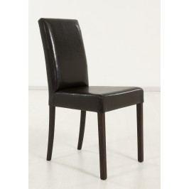 2er-Set Polsterstuhl Buche Kolonialfarbig Kunstleder Dunkelbraun Standard Furniture Ivonne Neutral