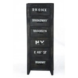 Kommode Antik Schwarz Lackiert Massiv Sit-Möbel Bronx Holz Vintage