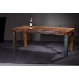 Esstisch 140x90 Echt Altholz Bunt Lackiert Sit-Möbel Fridge Vintage