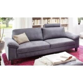 3-Sitzer Sofa In Microfaser Steel Candy Coast Grau Holz Modern