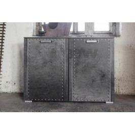 Kommode Industrial-Print-Optik/ Graphit Rauch Select Workbase Grau Modern