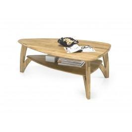 Couchtisch Oval Eiche Massiv Geölt Mit Ablagefläche Stolkom Laval Holz Modern