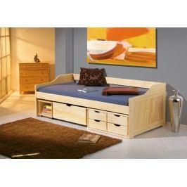Bett 90 X 200 Cm Kiefer Massiv Farblos Lackiert Inter Link Maxima Holz Neutral