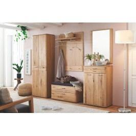Garderobenkombination Balkeneiche Bianco Teilmassiv Geölt Mca-Furniture Olin Holz Modern