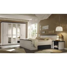 Schlafzimmer Mit Bett 180 X 200 Cm Pinie Weiss/ Touchwood Polpower Luca Weiß Holz Landhaus