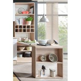 Tisch Mit Regal Sonoma Eiche/ Weiss Bega Holz Modern