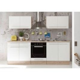 Küchenzeile Küchenblock Weiss Matt/ Sonoma Eiche Bega Welcome X Weiß Holz Modern