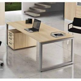 Schreibtisch 200x100 Arbeitstisch Mit Rollcontainer Eiche Hammerbacher Ergo Plus R Holz Modern
