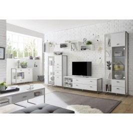 Wohnwand Pinie Weiss Mit Sideboard Und Couchtisch Imv Frame Pinie Weiß Holz Modern