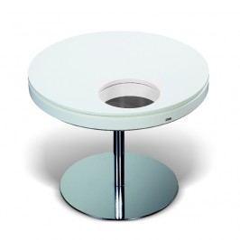 Esprit Tisch Rund 65 Cm Weiss/ Anthrazit Lackiert Esprit Home Neo Silber Chrom Neutral