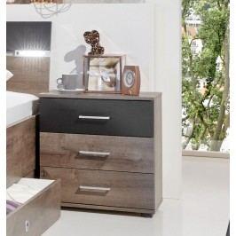 Nachtkommode Schlammeiche/ Schwarzeiche Wimex Chester Holz Modern