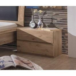 Nachtkommode Asteiche Bianco Teilmassiv Telmex Ottawa Holz Modern