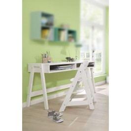 Schreibtisch Kiefer Massiv Weiss Gewachst Welle Lumio Kids Weiß Holz Modern