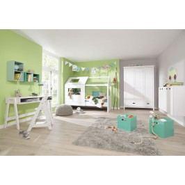 Jugend-/Kinderzimmer Kiefer Massiv Weiß Gewachst Welle Lumio Kids Holz Modern