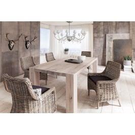 Esstisch 220 X 100 Cm Wildeiche White Wash Massiv Dm Möbel Fausto Holz Modern