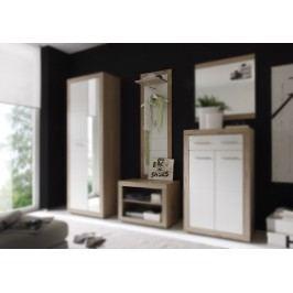 Wandpaneel Weiss / Eiche Sonoma Mit Haken Und Kleiderstange First-Look Can Can 5 Weiß Holzwerkstoffe Modern
