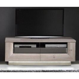 Tv-Unterteil Nelsoneiche/ Eiche Grau Mit Beleuchtung Forte MÖbel Stairs Modern