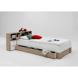 Bett 90 X 200 Cm Eiche/ Weiss Fmd Fabio 1 Holz Modern