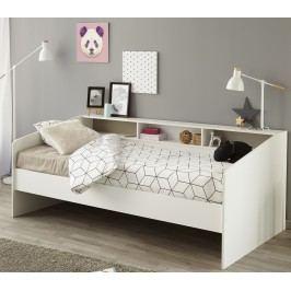 Bett 90 X 200 Cm Weiss Mit Absetzung Rosa/ Braun - Weiss/ Schwarz Parisot Sleep Weiß Holz Modern