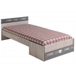 Bett 90 X 200 Cm Esche/ Grau Mit Aufschrift Parisot Fabric Holz Modern