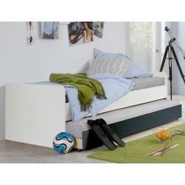 Bett 90 X 200 Cm Alpinweiss/ Anthrazit Wimex Rocco Holz Modern