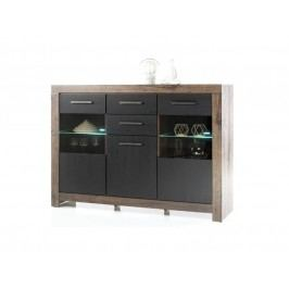Highboard In Eiche Canyon Mit Fronten In Schwarzeiche Hbz-Meble Balin Holz Modern