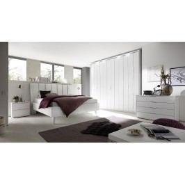 Schlafzimmer Mit Bett 180 X 200 Cm Weiss Matt Lackiert/ Chrome Classico Sole Venere Weiß Holz Modern