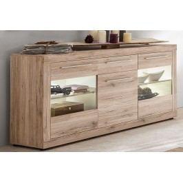 Sideboard Sandeiche/ Weiss Trendteam Passat Holz Modern