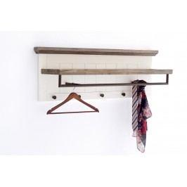 Garderobenpaneel Akazie Strukturweiss Lackiert Mca-Furniture Gommes Holz Landhaus