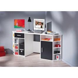 Schreibtisch Weiss/ Schwarz Inter Link Fabri Weiß Holz Modern
