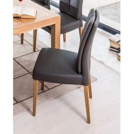 Polsterstuhl 2er-Set Kunstleder Kaiman Fango Gestell Eiche-Natur Massiv Standard Furniture Flynn 2 Modern