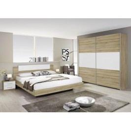 Schlafzimmer-Set Mit Bett 180 X 200 Cm In Eiche Sonoma Rauch Packs Borba Extra Modern