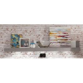 Wandboard Weiss Hochglanz/ Beton Industry Trendteam Pure Weiß Modern