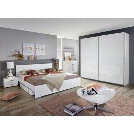 Schlafzimmer-Set Mit Bett 160 X 200 Cm Weiss Hochglanz Rauch Packs Lorca Weiß Modern