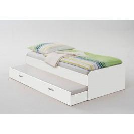 Bett 90 X 200 Cm Mit Gästeliege Weiss Fmd Pedro 4 Weiß Holz Modern