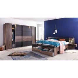 Schlafzimmer Schlammeiche/ Schwarzeiche Mit Bettanlage Und Beleuchtung Wimex Virgo Schwarzeiche/ Schlammeiche Holz Modern