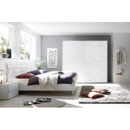 Schlafzimmer Mit Bett 180 X 200 Cm Weiss Matt Mit Siebdruck In Weiss Hochglanz Classico Xaos Weiß Holz Modern